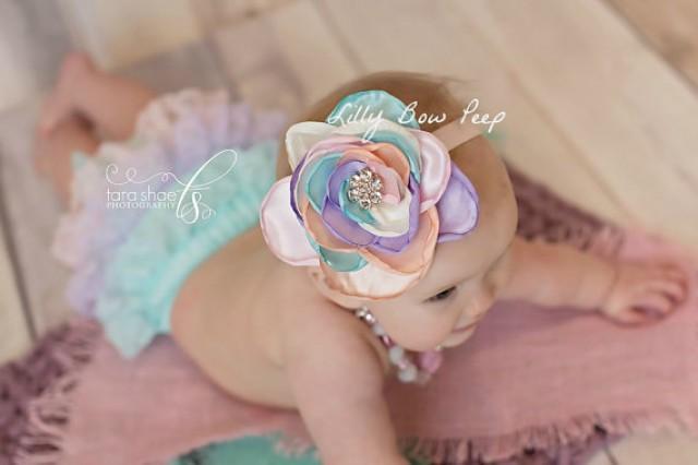 FALL RAINBOW newborn to toddler bows Baby headbands