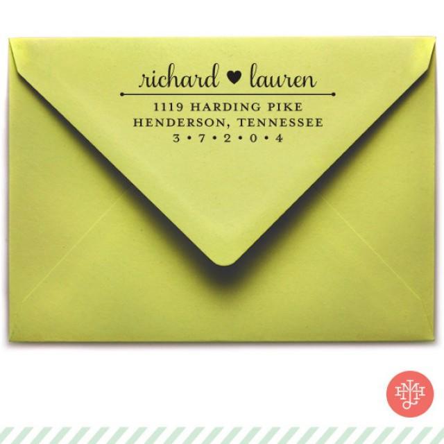 Samantha Return Address Stamp (Wooden Handle OR Self Inking), Wedding  Invitation Stamp, Hostess Gift, Housewarming Gift #2245630   Weddbook