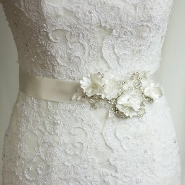 Bridal Sash Wedding Dress Belt Rhinestone Sash Bridal Belts