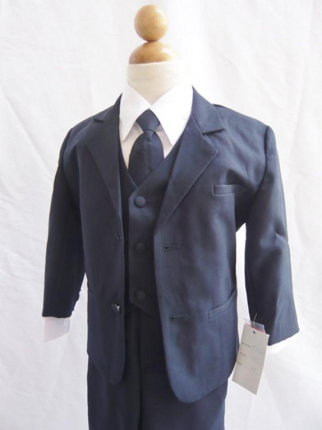 Tuxedo To Match Flower Girl Dresses Color In Navy Blue