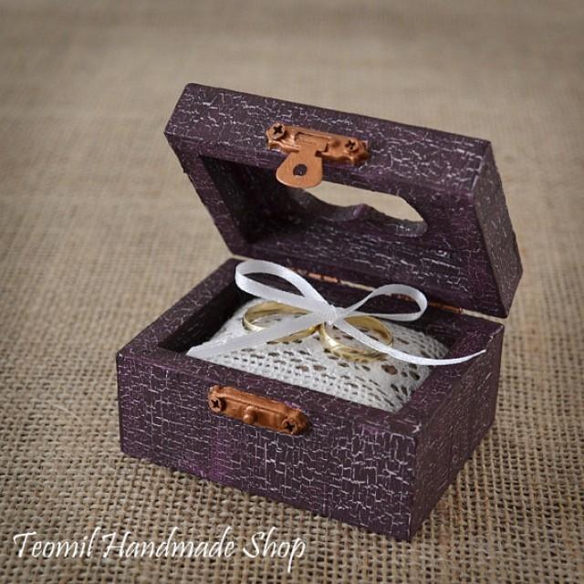 Wedding Ring Box, Ring Bearer , Alternative Ring Pillow