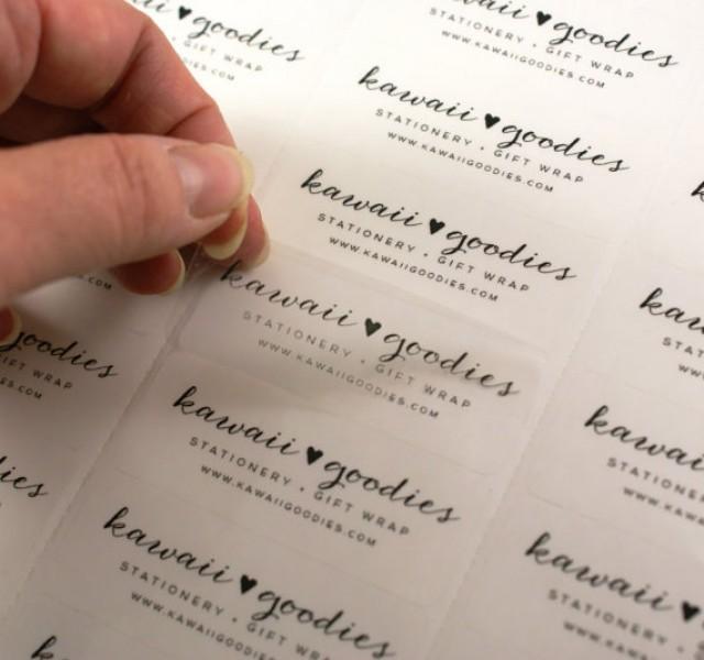 Custom Print CLEAR Address Labels