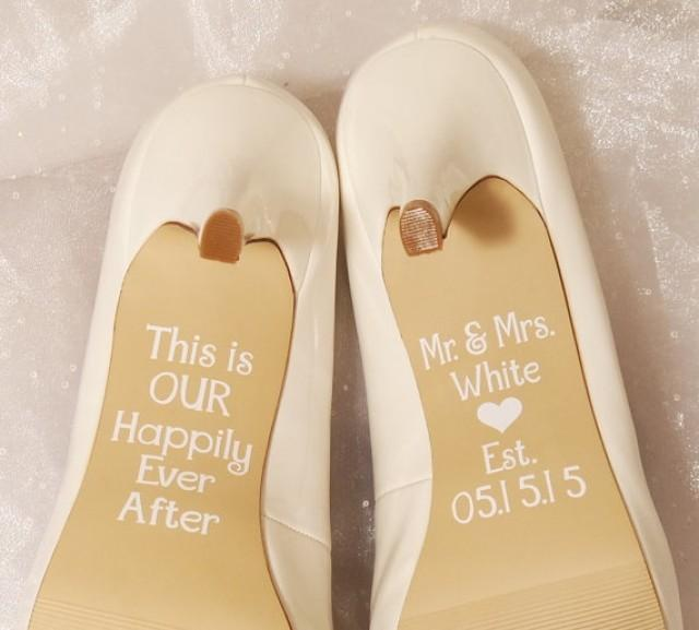 Personalized Wedding Shoe Decals High Heel This Is Our Hily Ever After Custom Vinyl Decal 2249719