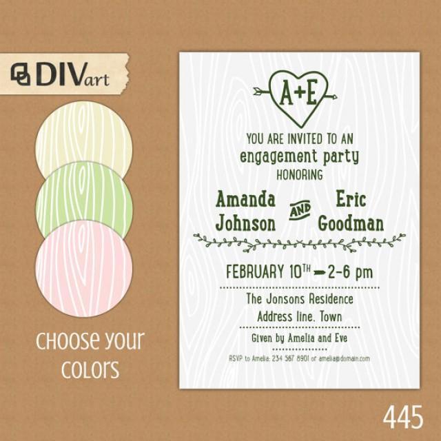 Printable 5x7 Engagement Party Invitation Bridal Shower