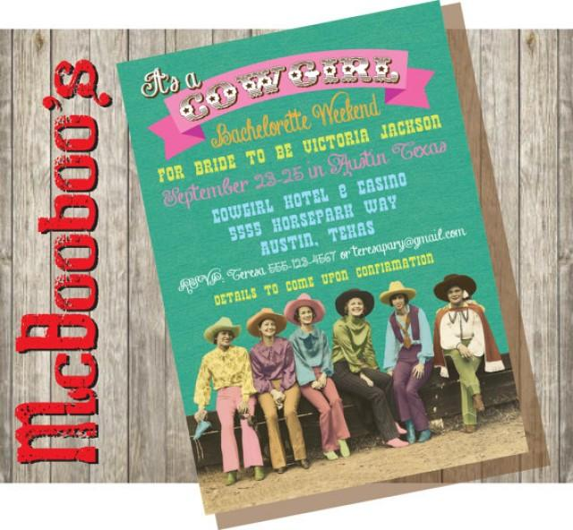 Bachelorette Getaway Ideas: Western Cowgirl Weekend Getaway Bachelorette Party