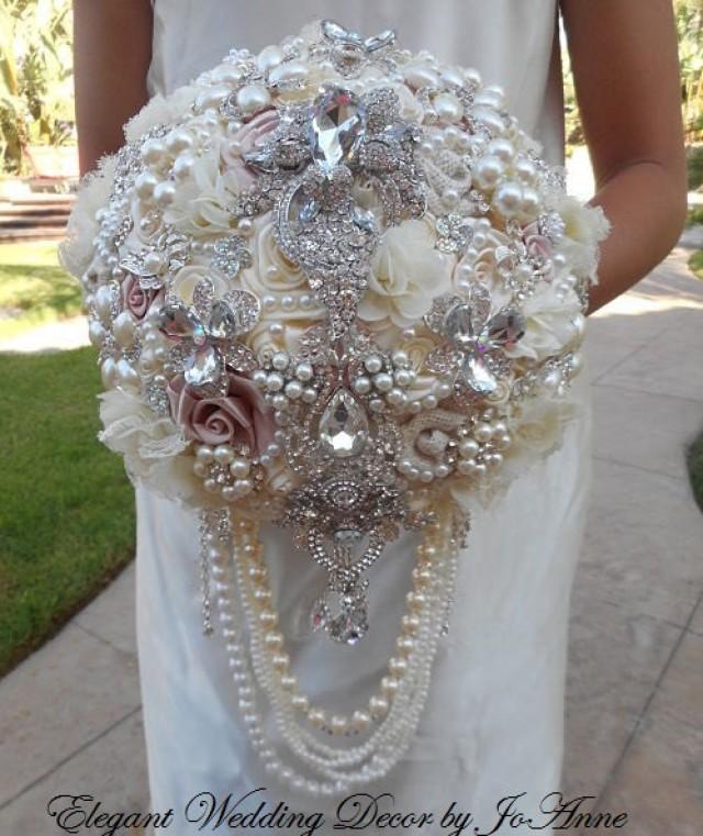 Stunning Brooch Bouquet Deposit For A Custom Cascading