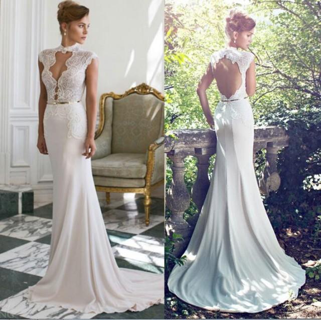 20 Elegant Simple Wedding Dresses Of 2015: Elegant 2015 New Arrival Sexy Julie Vino Slime A-Line