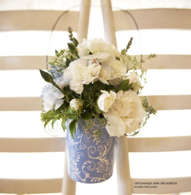 6 wedding aisle decorations flower vases pew cone aisle marker 6 wedding aisle decorations flower vases pew cone aisle marker wedding pew decorations polka dot damask pattern aisle buckets mightylinksfo