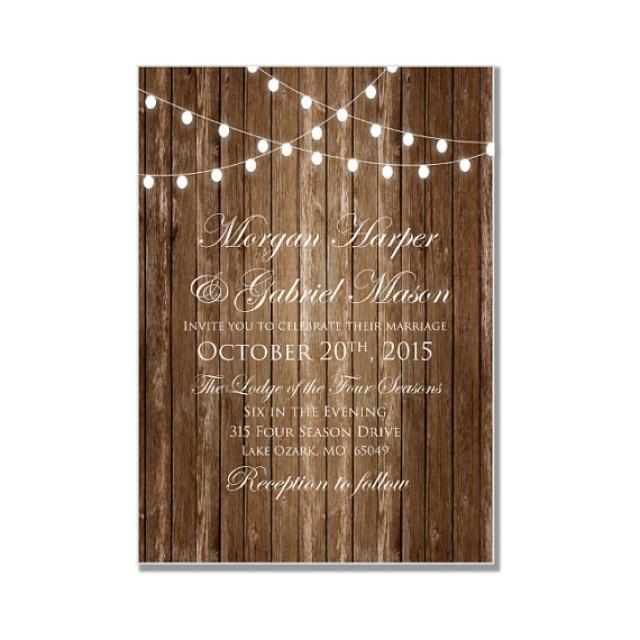 rustic wedding invitation country chic hanging lights fall wedding diy wedding invitations instant download microsoft word 2250639 weddbook