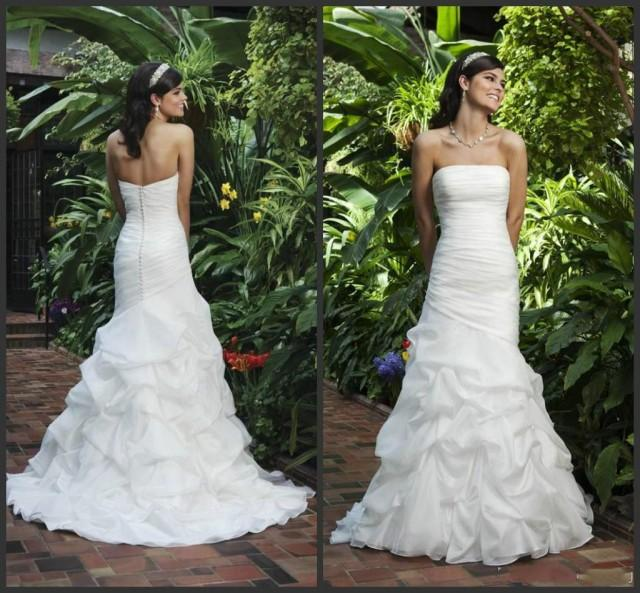 Shop Online Beach Wedding Dresses Cheap Wedding Dresses: Elegant Mermaid Wedding Dresses Strapless Sweep Length