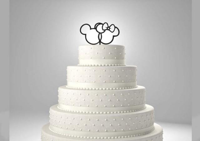 Kuchen - Mickey And Minnie Wedding Cake Topper #2251112 - Weddbook