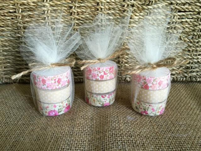 rustic wedding favor tea light candles 2251231 weddbook