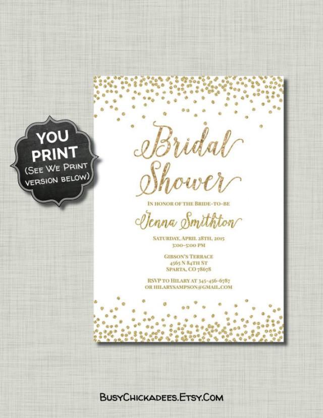 2000d1a70153 Gold White Bridal Shower Invitation Glitter Printable Pdf   Jpg  2251827 -  Weddbook