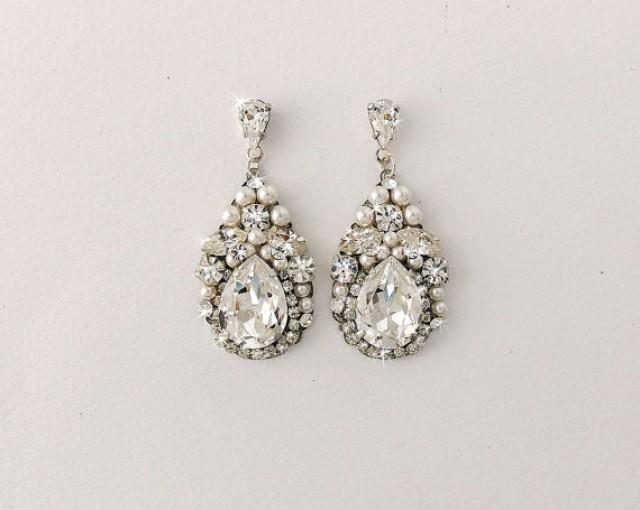 Wedding Earrings Bridal Earrings Vintage Style