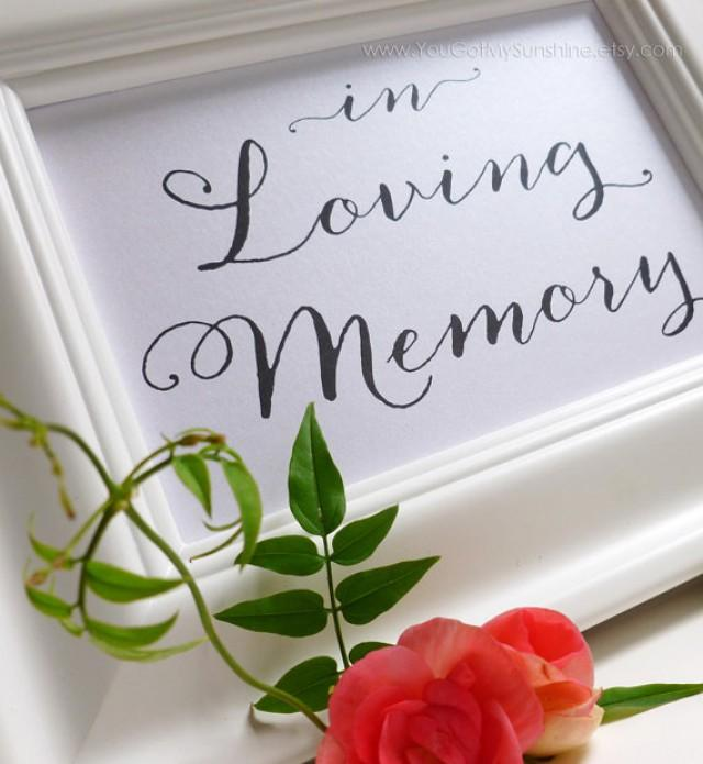 Reception Ceremony Burial: Memorial Sign For Wedding Reception Or Special Events