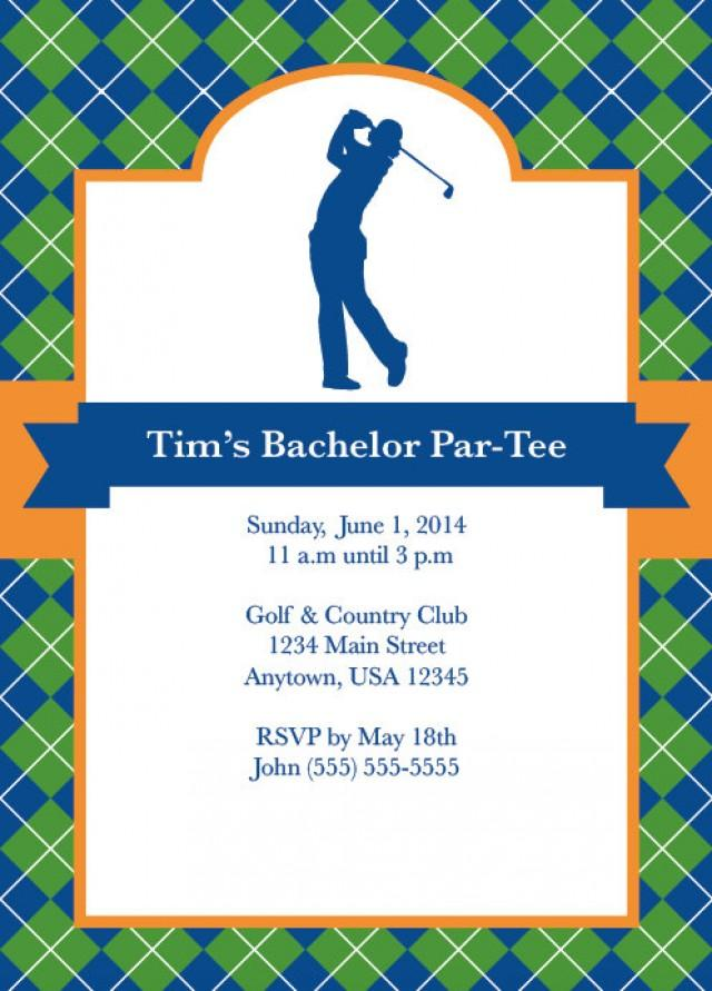 Golf Party, Golf Invite, Men\'s Bachelor Party, Party For Him ...