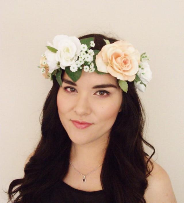 Fl Headband Teal Flower Crown Pine Cone Headpiece Hair Accessory Hazel