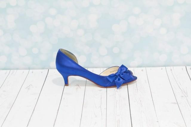 1 3  4 inch heel - blue shoes - wedding shoes