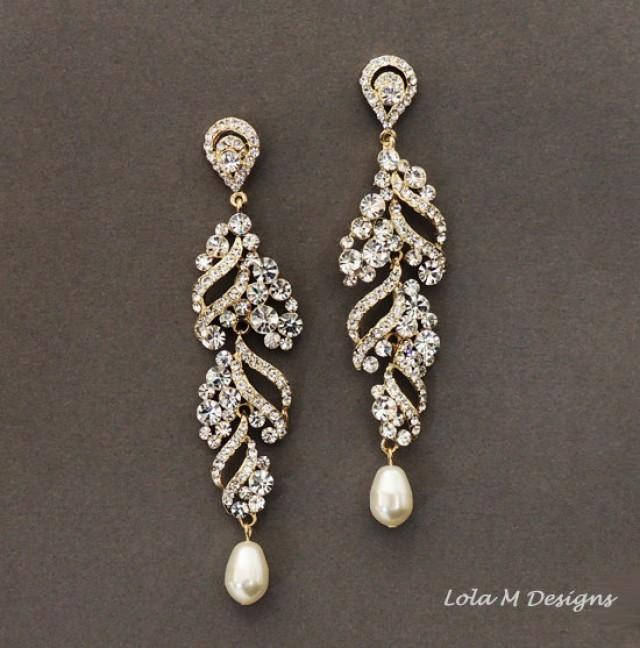 Elsa Gold Wedding Jewelry Bridal Earrings Gold