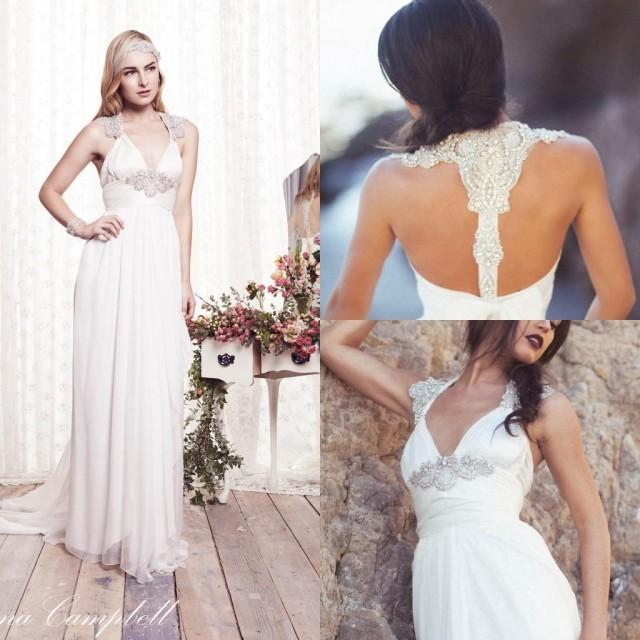 Shop Online Beach Wedding Dresses Cheap Wedding Dresses: 2015 Beach Wedding Dresses Chiffon Garden A Line Empire