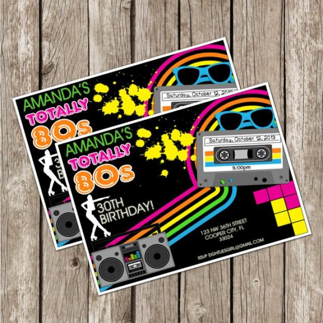 Totally Eighties Retro Party Invite