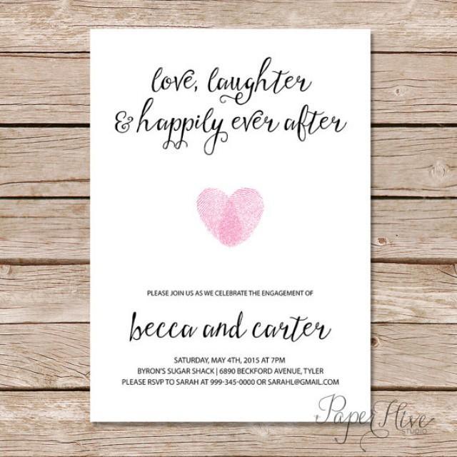 After The Wedding Party Invitations: Printable Engagement Party Invitation / Modern Wedding