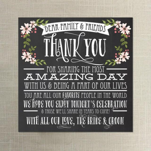 Instant Chalkboard Style Thank You Place Card Wedding Reception Setting 2255660 Weddbook