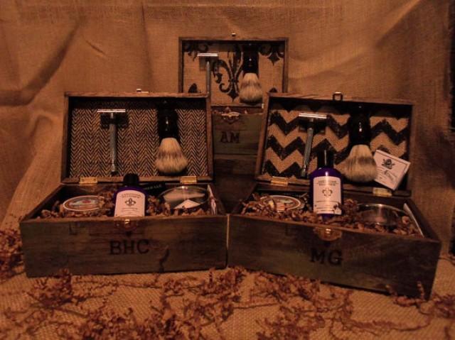 Groomsmen Gifts Vintage Shave Kits 5 Groomsmen Best Man Shave Kit Gift Box Ideas Ombre Spring Wedding 2256414 Weddbook