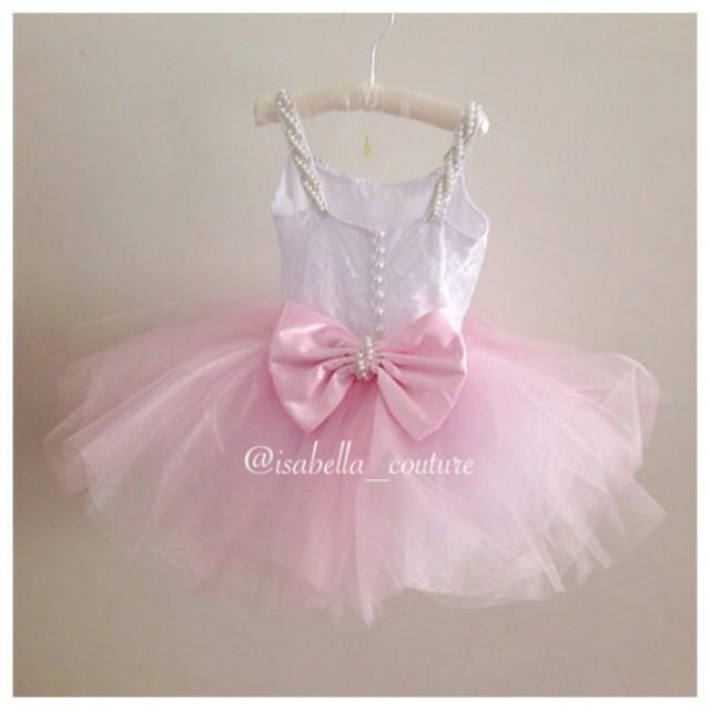 e4b3d8033a BALLERINA TUTU DRESS - Flower Girl Dress - Lace Dress - Girls Lace Dress -  Big Bow Dress - Tutu Dress - Wedding Dress by Isabella Couture