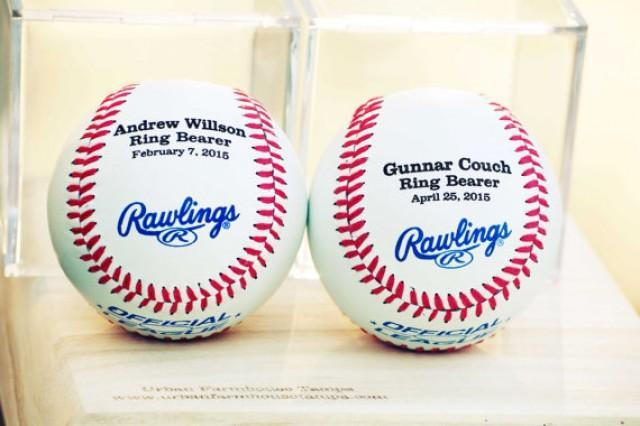 Groomsmen Gift Monogrammed Baseball Jr Groomsmen Gifts