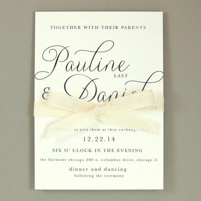 Elegant Wedding Invitation Templates: Modern Elegant Wedding Invitation