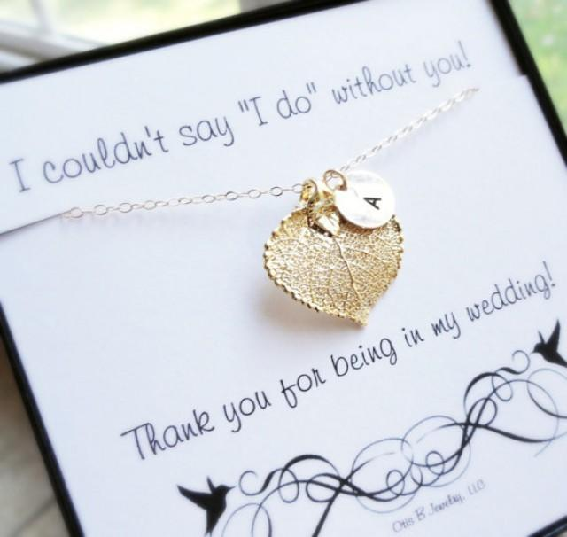 Thank You Messages For Wedding Gifts: Gift Set Of NINE Leaf Necklaces On Message Cards