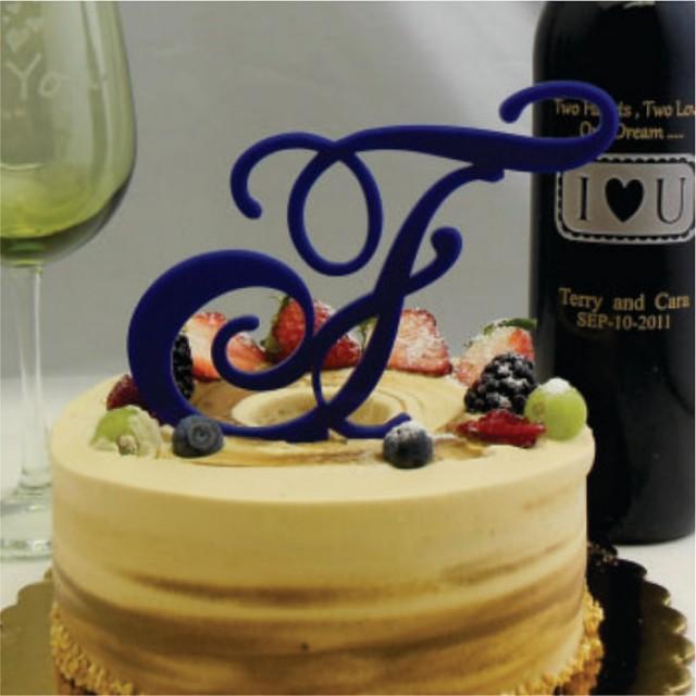 Acrylic Wedding Cake Topper - 5\