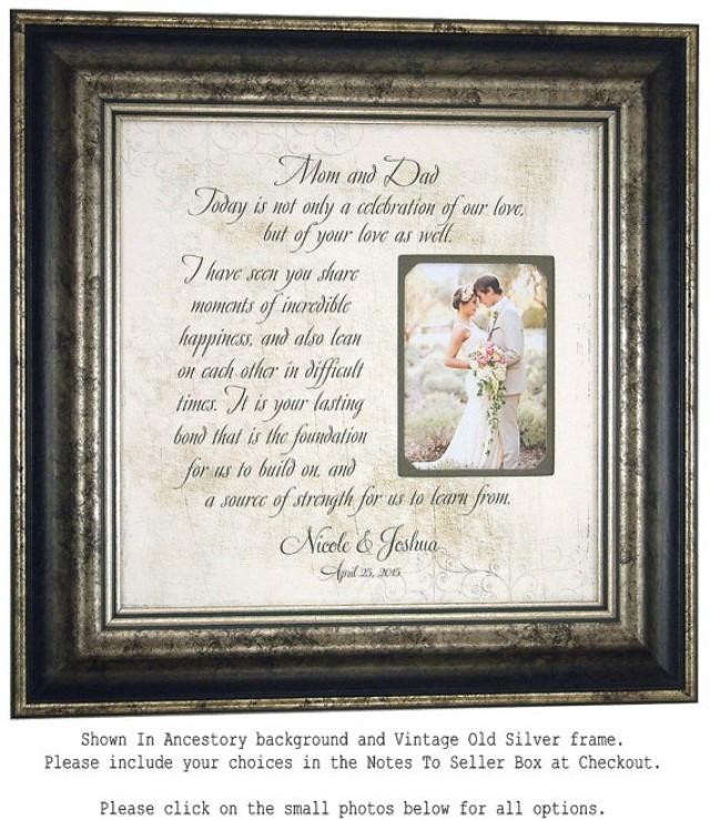 Unique Parent Wedding Gift Ideas: Personalized Wedding Frame, Bridal Shower Gift, Parents