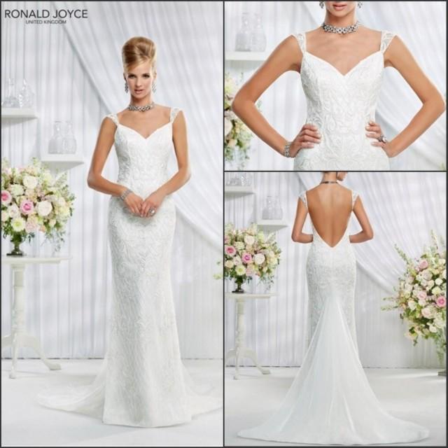 Graceful Sheath Wedding Dresses 2015 Summer A Line V Neck: New Arrival 2015 Spring Lace Veni Infantino Sheath Wedding