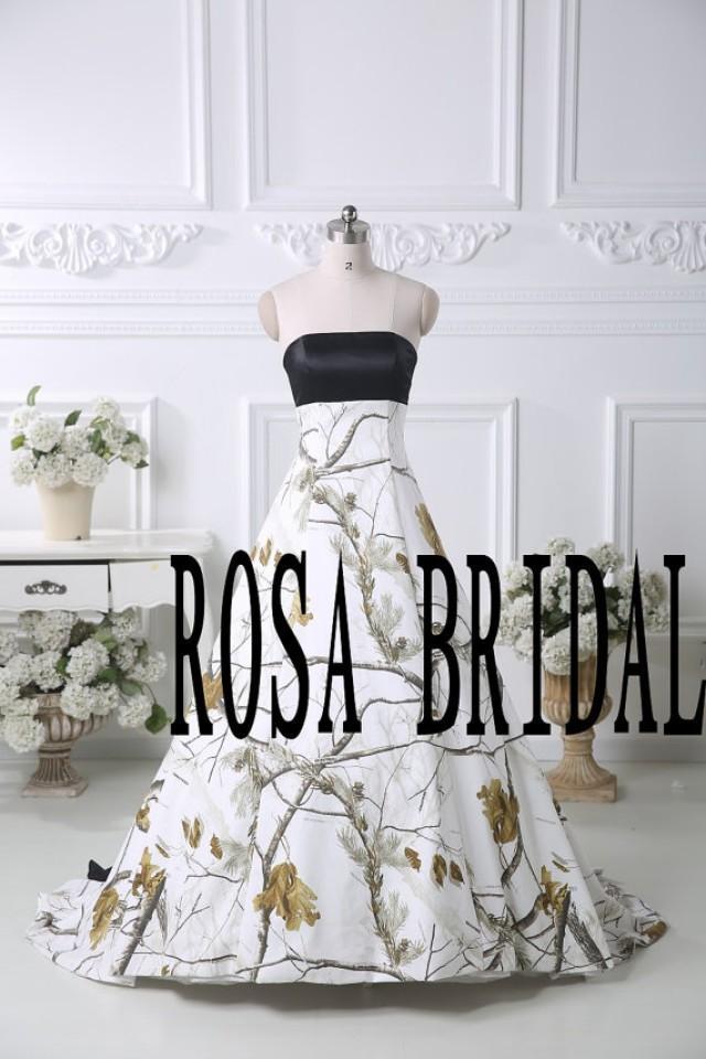Camo Wedding Dress Camouflage Wedding Gown Camo A Line Bridal Dress Custom Size 2263830 Weddbook
