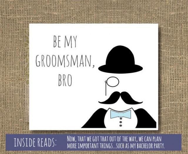 Be My Best Man Groomsmen Will You Groomsman Usher Wedding Invitation 2265129 Weddbook