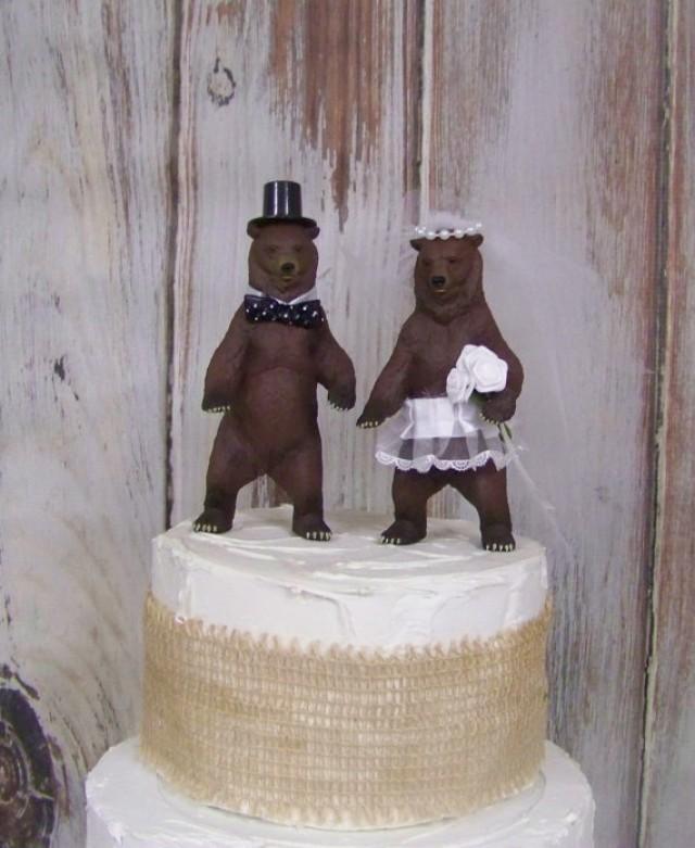 Bear Family Wedding Cake Topper