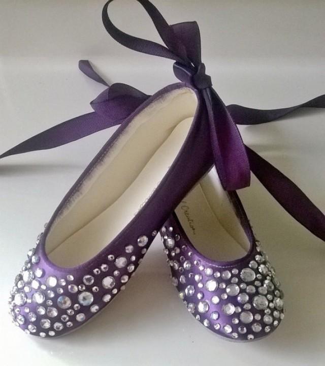Bling Wedding Shoes Rhinestone Ballerina Flower Girl