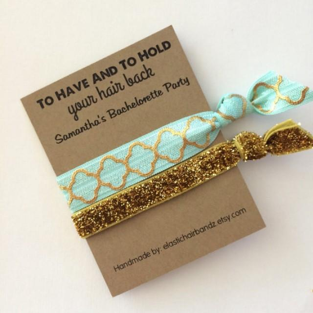 custom party favors gold quarter foil printgold glitter to have and to hold your hair back choose your color weddbook