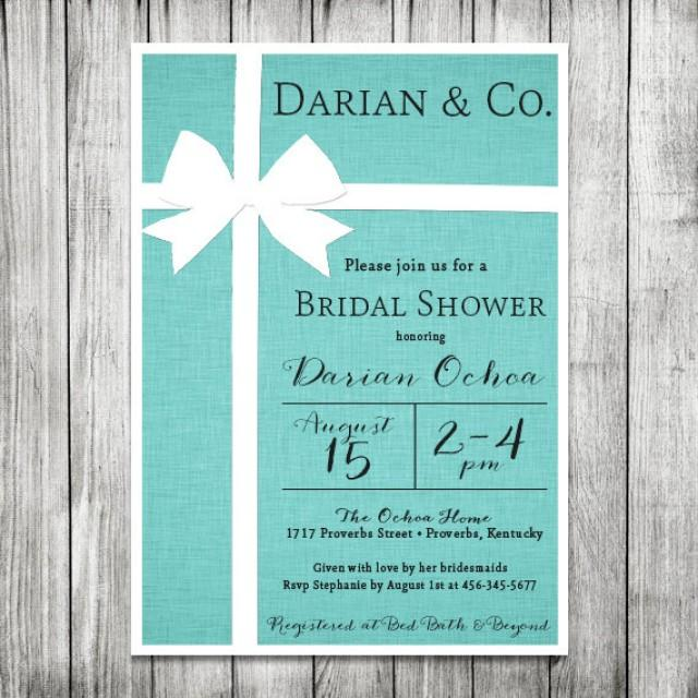 Bridal Shower Invitation Tiffany Amp Co Inspired