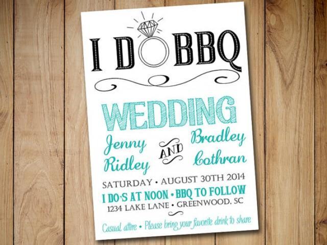 Backyard Bbq Wedding Invitations: I DO BBQ Wedding Invitation Template Download