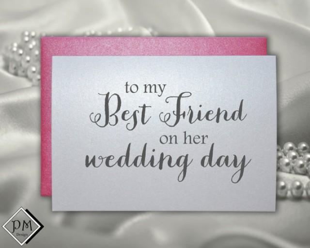 Bridesmaid Gift To Bride On Wedding Day: Wedding Card To Best Friend, Bridal Shower Cards Bestie