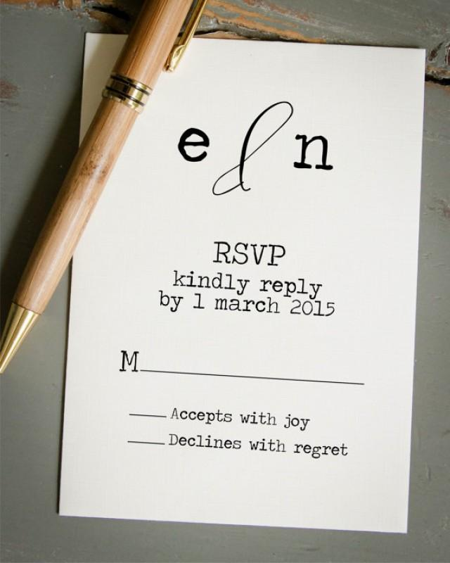 Wedding RSVP Card, DIY Wedding Invitation Stamp, Custom