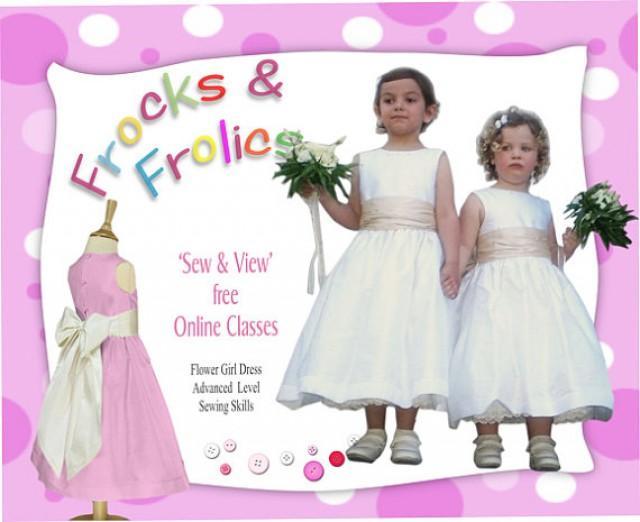 Sewing Pattern - Flower Girl Dress Pattern (Age7, 8,9 & 10) - Video ...
