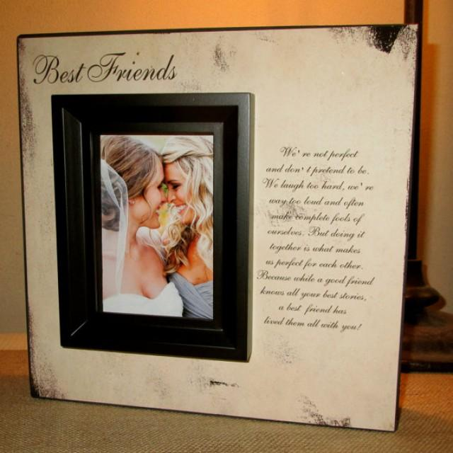 Best Wedding Gift For A Friend: Best Friend Best Friends Picture Frame Poem Quote