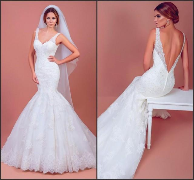 2015 bien savvy mermaid wedding dresses sweep train lace for Sell wedding dress for free