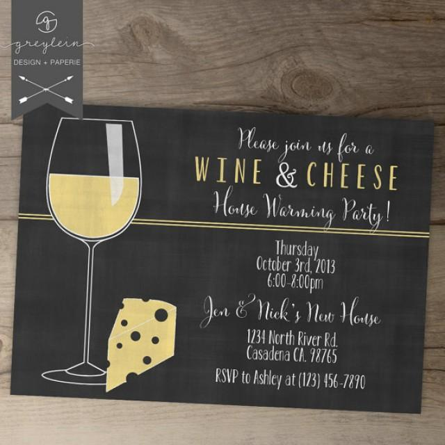 Wine And Cheese Invitations / House Warming Chalkboard ...