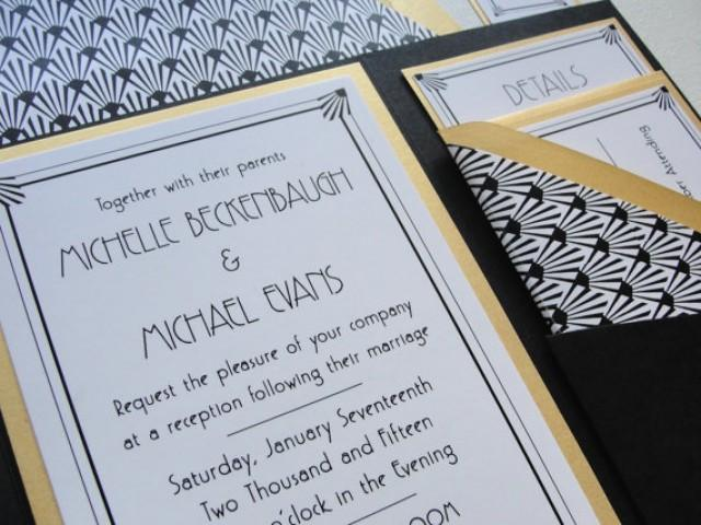 Pocket Fold Wedding Invitations Set