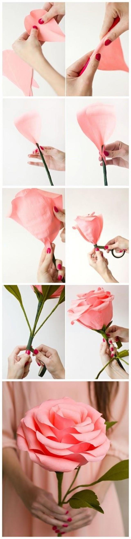 Как сделать из бумаги розу своими руками без клея